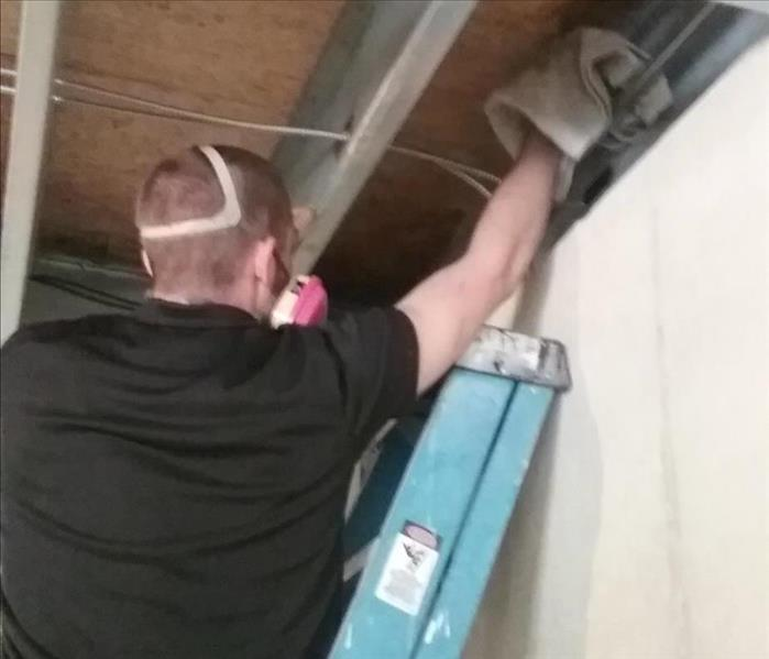 Cleaning a molded garage