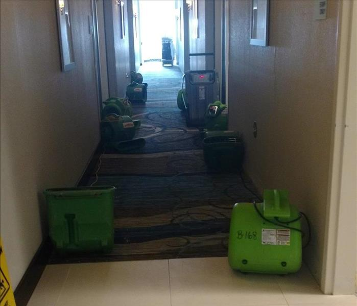 Commercial Water damage at the Holiday Inn